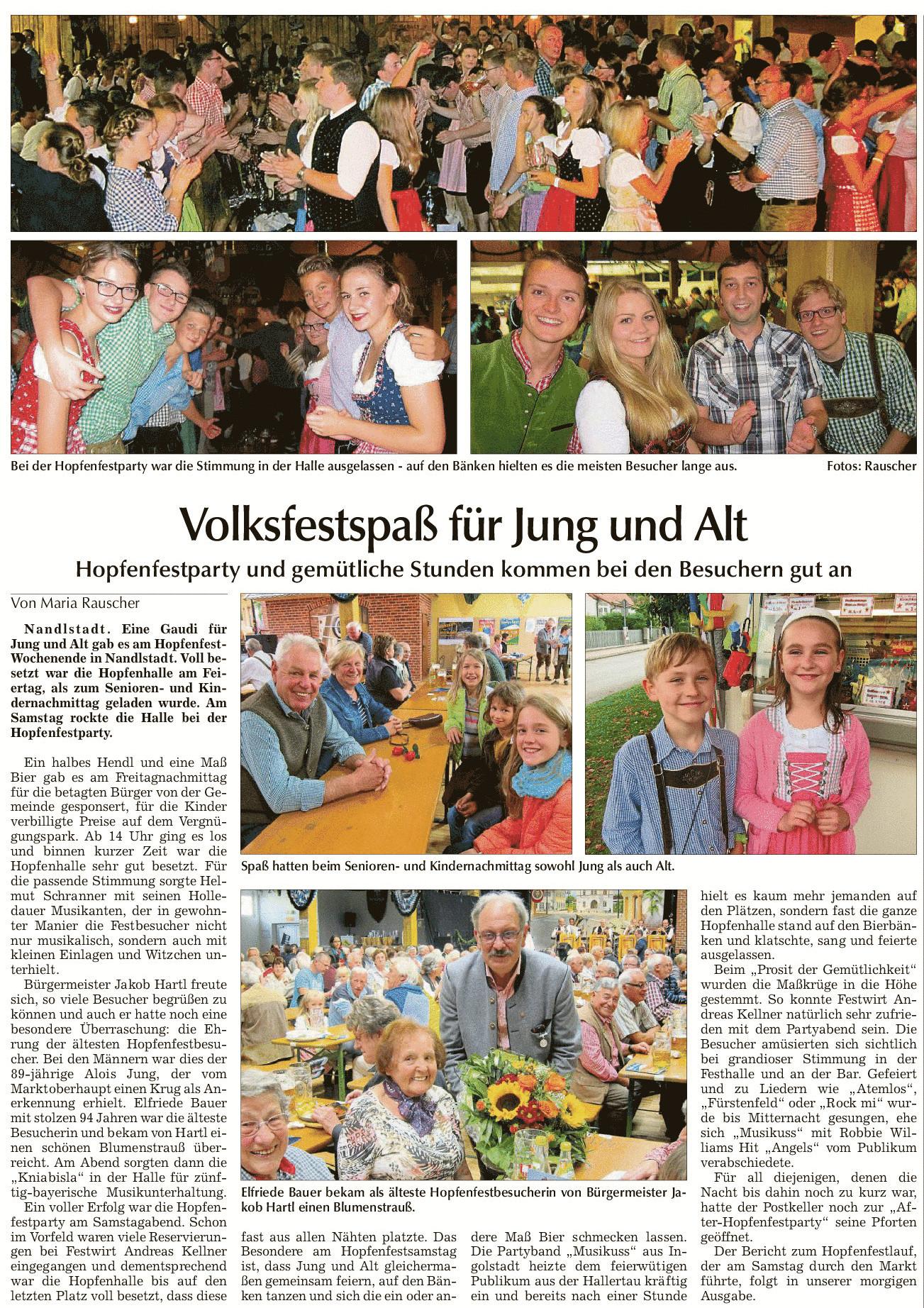 Hopfenfestparty und gemütliche Stunden kommen bei den Besuchern gut an